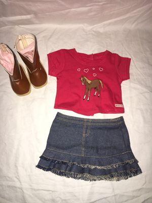American Girl Doll Western Riding Outfit (New Boots) for Sale in Hillsboro, OR