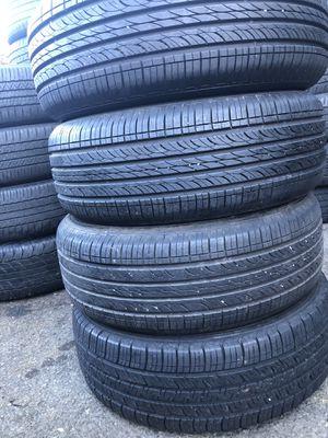 Set 4 usted tire 215/60R16 three HANKOOK and one Goodyear three used tire have patch set 4 used tire $140 4 llantas usadas 215/60R16 3 HANKOOK y una for Sale in Alexandria, VA