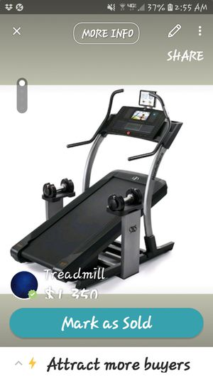 NordicTrack x11i Incline Treadmill- Like New! for Sale in Fayetteville, GA
