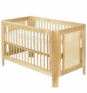 Troll brand birch crib with toddler conversion kit and organic mattress for Sale in San Diego, CA