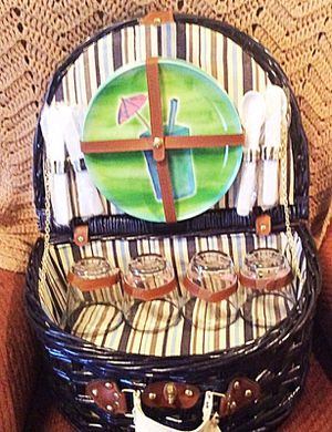 Picnic Basket With Accessories for Sale in Inwood, WV