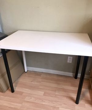 Ikea White Table Desk with White and Black Legs for Sale in San Diego, CA