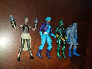 Marvel Legends: Shuri, Rock Python , Genis-Vell & Grey Gargoyle New loose action figure lot with NO BAF build a figure parts for Sale in Los Nietos, CA