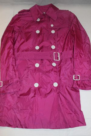 Burberry London Women's Double Breasted Trench Rain Coat Magenta / Pink Sz 6 for Sale in Riverside, CA