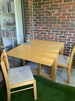 Foldable table + 2 chairs for Sale in Cambridge, MA