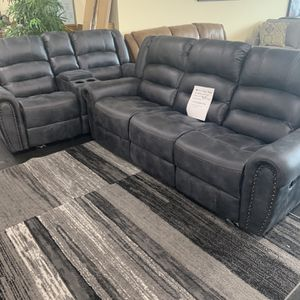 Reclining Sofa And Glider Reclining Love Seat On Sale for Sale in Federal Way, WA