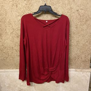 NWOT! Red Flowy Shirt/blouse (lrg) for Sale in Arlington, TX