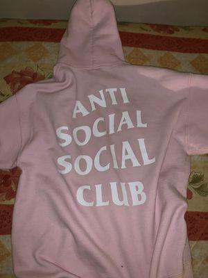 Anti social social club hoodie pink size medium for Sale in Reston, VA