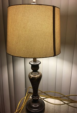 Marble lamp with shade for Sale in Beltsville, MD