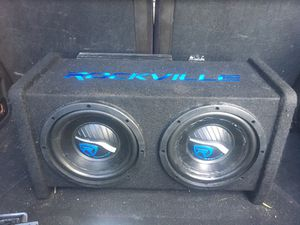 Rockvile sound system with amp Rockville RVA600.1 1200w Peak 4Ohm Stable Mono Amplifier with 8 inch speakers for Sale in Miami, FL