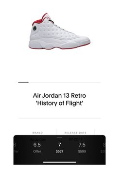 Air Jordan 13 Retro 'History Of Flight' for Sale in Harlingen,  TX