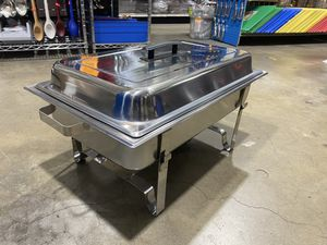 Chafing Dish With Full size Food Pan & 3 Third Size Food Pans Complete With Lids and Fuel Holders for Sale in Colton, CA