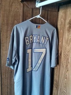 Sports Card With Kris Bryant World Series Cubs Majestic Large Jersey for Sale in Galesburg,  IL