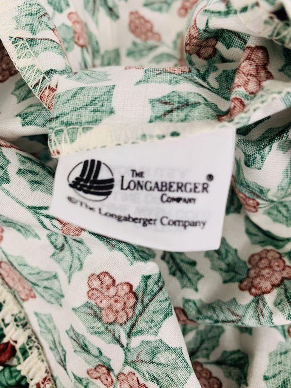 Longaberger Medium Chore Basket Liner Traditional Holly
