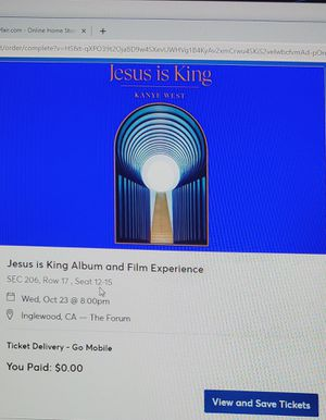Jesus Is King Album and Film Experience for Sale in Inglewood, CA