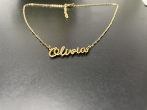 Name necklaces stainless steel'18 karat gold plated for Sale in Fort Lauderdale, FL