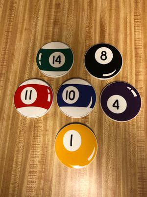 Pool ball coasters - 6 for Sale in Spring Valley, CA