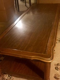 "Classic Wood Coffee Table 58"" by 22"" 16.5 height for Sale in Torrance,  CA"