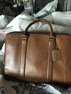 Coach Bleecker Leather Portfolio Briefcase for Sale in Renton, WA