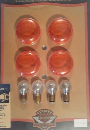 New Harley Davidson Motorcycle Turn Signal Lens Light Kit for Sale in Pembroke Park, FL