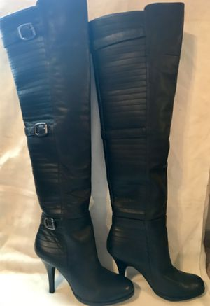 BCBG Thigh High Leather Boots Womens US- 11 for Sale in West Jordan, UT
