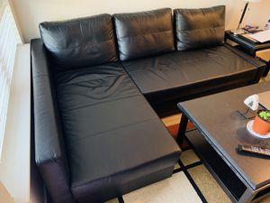 IKEA FRIHETEN Leather Couch for Sale in Oakland, CA
