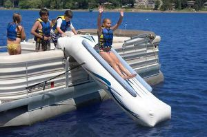 Rave Sports Slide Pontoon boat for Sale in Oak Point, TX
