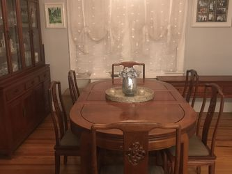 $675- INCLUDES ALL- Solid Rosewood Dining Set from Thailand for Sale in Floral Park,  NY