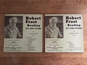 "Robert Frost Reading His Own Poems Vinyl LP 10"" Albums Set of 2 for Sale in Bellwood, IL"