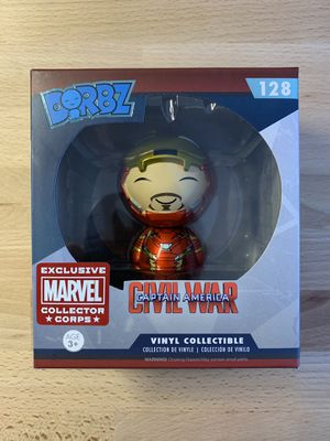 Dorbz Funko - Captain America Civil War Iron Man (Unmasked) - Marvel Collector Corps for Sale in Hialeah, FL