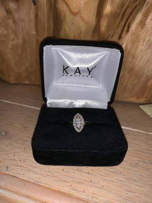 14k white gold marquise diamond wedding ring for Sale in Lacey, WA
