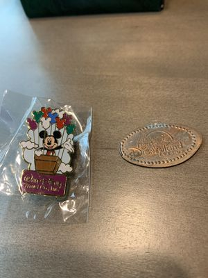 Disney Pin and coin ( pin is new never opened) for Sale in Tacoma, WA