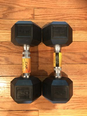 NEW Rubber Dumbbells (2x20s) for $35 Firm!!! for Sale in Burbank, CA