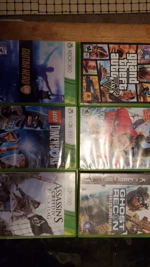 6 xbox 360 games great shape for Sale in Elmsford, NY