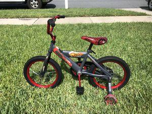 "kids disney pixar CARS bike 16"" with training wheels for Sale in Riverview, FL"