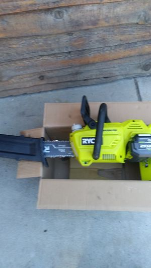 Ryobi 40-volt 14in brushless chainsaw used one for Sale in San Bernardino, CA