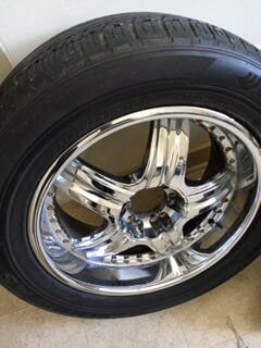 Chrome 22 inch rims and brand new tiers for Sale in Harrisburg, PA