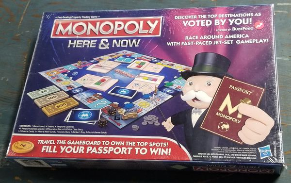 Monopoly Here and Now Hasbro Board Game Limited Edition