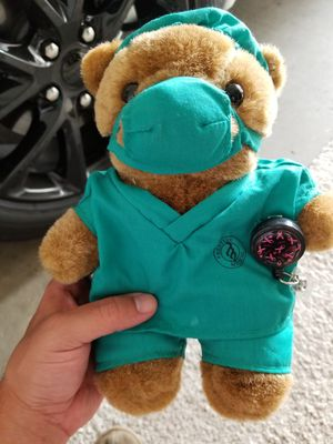 Cancer awareness stuffed animal surgical bear for Sale in Winchester, CA