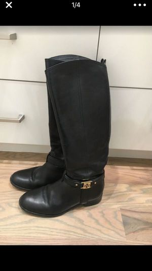 Tory Burch Leather Black Boots Size 8 for Sale in Dallas, TX