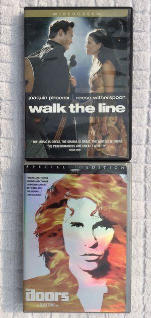 Walk the Line & The Doors DVD Bundle for Sale in Fresno, CA