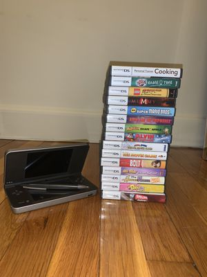 Nintendo DS Xl w 19 games for Sale in Newton, MA