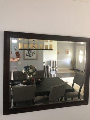 Dark brown wall mirror 48X40 for Sale in Pompano Beach, FL