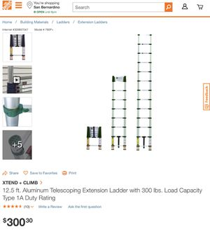 12.5 Feet Extension Ladder for Sale in Los Angeles, CA
