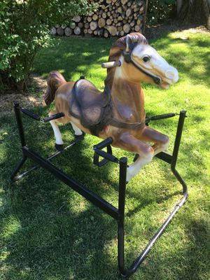 Oh fashion springy Rockinghorse you don't see these anymore $95 for Sale in Varna, IL