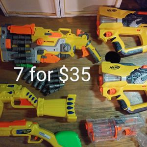 7 Nerf And Assorted Toy Guns for Sale in Maple Valley, WA