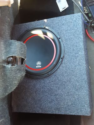 one 12 ported box and amp for Sale in Lubbock, TX