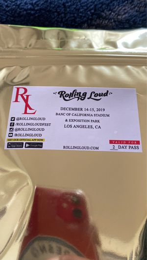 Rollling Loud 2 VIP Tickets for Sale in Fresno, CA