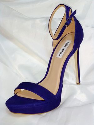 Steve MADDEN Blue Suede Sarah Heels for Sale in New Orleans, LA