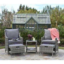 Outdoor Grey Wicker Patio Set for Sale in Beverly Hills,  CA